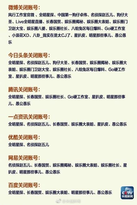 """网信办遏制追星炒作:""""中国第一狗仔卓伟""""等账号被关闭"""