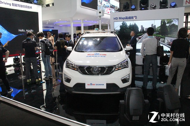 百度CESA展示自动驾驶及车载智能系统