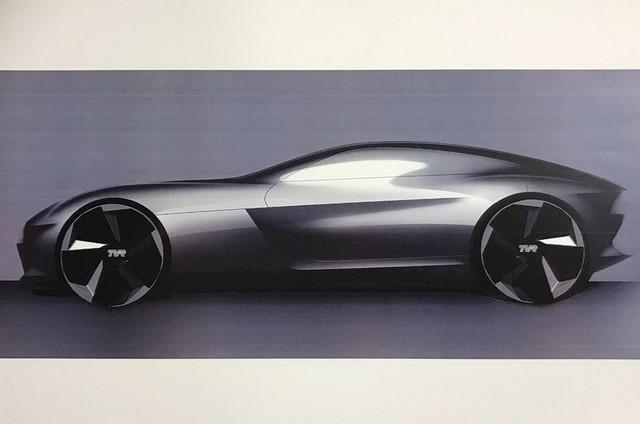 搭载V8发动机 TVR全新跑车设计图曝光