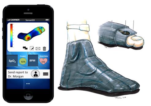 新型智能袜来了!可以有效预防糖尿病足