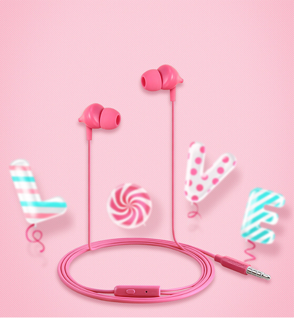 秀色可餐  沃品糖果耳机AU03甜蜜上市