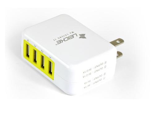 多功能USB电源适配器4口充电器