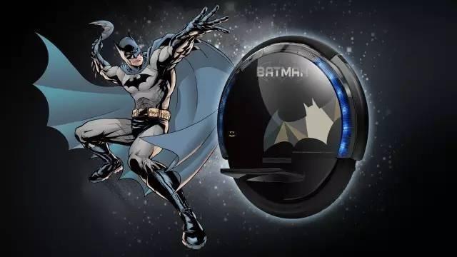 蝙蝠侠版单轮平衡车 24km自带安全系统