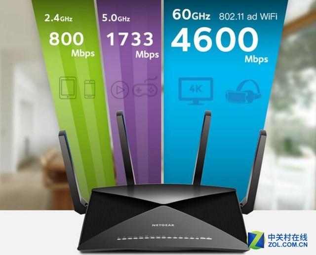 新款802.11ad路由器来袭 网件R9000发布