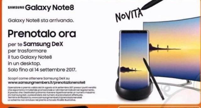 海报曝光三星Note 8上市时间:9月14日   根据海报的内容可以判断,三星Note 8在意大利的上市时间为9月14日,并且预订该机还会赠送DeX底座,此前也有消息指出,该机在美国开启预订的时间为8月24日。此外,至于售价方面也有消息传出该机的价格会在1000欧元左右,那么对于这款即将回归的安卓机皇,你准备好了吗? 本文属于原创文章,如若转载,请注明来源:海报曝光三星Note 8上市时间:9月14日http://mobile.